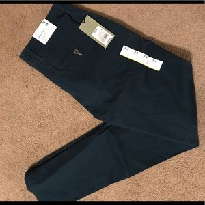 Dark teal skinny chino pants